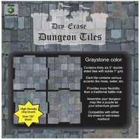 Dry Erase Dungeon Tiles: Graystone 5 Inch Square (36 per pack)