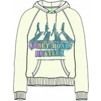 The Beatles Abbey Road Spray Ladies Natural Hoodie Small