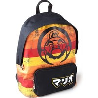 Nintendo - Distressed Retro Striped Unisex Backpack Backpack - Multi-Colour