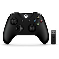 Official Microsoft Black Wireless Controller with Wireless Adapter V2 for Xbox One