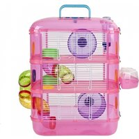Hamster Cage   3 Story With Tubes   Perfect For Hamsters And Gerbils   M&W Pink New