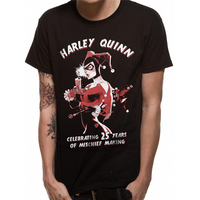 Batman - Harley Mischief Men's Small T-Shirt - Black
