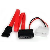 12in Slimline SATA to SATA with LP4 Power Cable Adapter