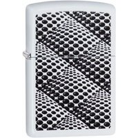 Zippo Optical Illusion Classic White Matte