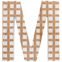 Letter M Wall Plaque