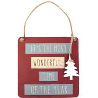 It's The Most Wonderful Time Hanging Sign