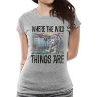 Where The Wild Things Are - Book Cover Women's Medium T-Shirt - Grey