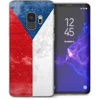 CASEFLEX SAMSUNG GALAXY S9 RETRO CZECH FLAG CASE / COVER (3D)