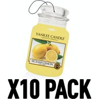 Sicillian Lemon (Pack Of 10) Yankee Candle Car Jar Air Freshener