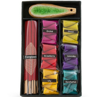Multicoloured Incense Cone, Stick and Holder Gift Set