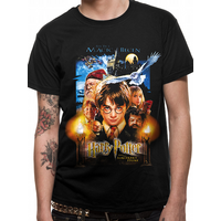 Harry Potter - Sorcerers Stone Movie Poster men's X-Large T-Shirt - Black