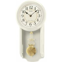Seiko QXH063C Westminster/Whittington Dual Chime Wall Clock with Pendulam Cream