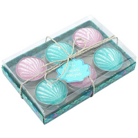 Set of 6 Shell Tealight Candles