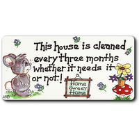 This House Is Cleaned Smiley Magnet Pack Of 12