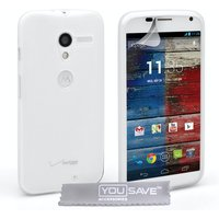 YouSave Accessories Motorola Moto X Silicone Gel Case - Clear