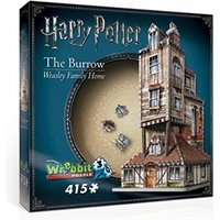 Ex-Display Harry Potter Hogwarts The Burrow Weasley Family Home 3D Jigsaw Used - Like New