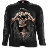 Dark Love Men's XX-Large Long Sleeve T-Shirt - Black