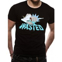 Rick And Morty - Wasted Men's Large T-Shirt - Black