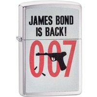 Zippo James Bond 007 Is Back Brushed Chrome Finish Windproof Lighter