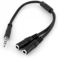 Startech Headset Adapter for Headsets with Separate Headphone/Mic Plugs - 3.5mm 4 position to 2x 3 position 3.5mm