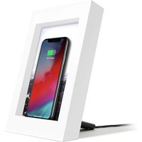 Twelve South PowerPic Picture Frame Stand with integrated 10W Qi Charger for iPhone / Wireless Charging Smart Phones (white)