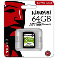 Kingston Canvas Select 64GB SD Class 10 UHS-I Flash Card