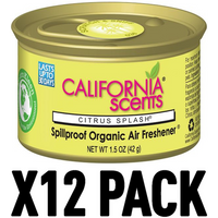 Citrus Splash (Pack Of 12) California Scents Spillproof Organic Canister