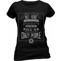 Supernatural - Crazy People Women's XX-Large T-Shirt - Black