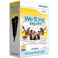 (Damaged Packaging) We Sing Encore Game + 2 Logitech USB Microphones