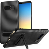 Samsung Galaxy Note 8 Ultra Thin Carbon TPU Case With Stand - Black
