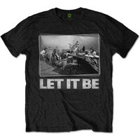 The Beatles - Let It Be Studio Men's Medium T-Shirt - Black