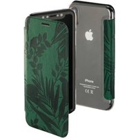 Hama Jungle Leaves Booklet for Apple iPhone X, dark green