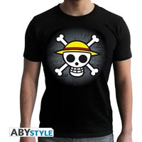 One Piece - Skull With Map Men's Large T-Shirt - Black