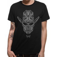 Westworld - Circuit Face Men's Small T-Shirt - Black