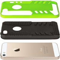 YouSave Accessories iPhone 5 / 5s / SE Border Combo Case - Green