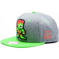 Capcom StreetFighter Pixelated Retro Blanka Character Snapback Baseball Cap - Grey