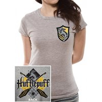 Harry Potter - House Hufflepuff Women's Small T-Shirt - Grey
