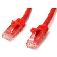StarTech Red Gigabit Snagless RJ45 UTP Cat6 Patch Cable Patch Cord (3.05m)