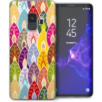 CASEFLEX SAMSUNG GALAXY S9 BRIGHT COLOURED LEAVES PATTERN CASE / COVER (3D)