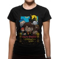Harry Potter - Cute Poster Art Women's Fitted XX-Large T-shirt - Black