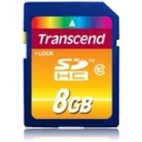Transcend 8GB Secure Digital High-Capacity Class 10 Flash Card TS8GSDHC10