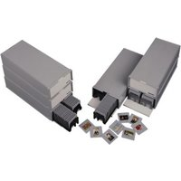 Hama 100 Stackable Slide Box, with 2 Magazines for 50 Slides each, Twin Pack