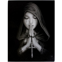 Small Gothic Prayer Canvas Picture by Anne Stokes