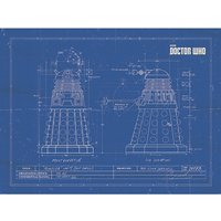 Doctor Who - Dalek Blueprint Canvas