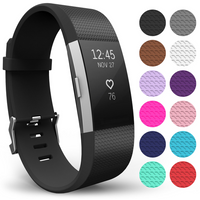 Yousave Fitbit Charge 2 Strap Single (Small) - Black