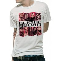Suicide Squad - Text And Group Men's Small T-Shirt - White