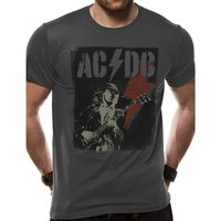 AC/DC - Angus Flash Men's Small T-Shirt - Grey
