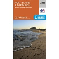 Holy Island and Bamburgh by Ordnance Survey (Sheet map, folded, 2015)