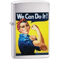 Zippo We Can Do It Brushed Chrome Windproof Lighter