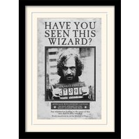 Harry Potter - Sirius Wanted Mounted & Framed 30 x 40cm Print